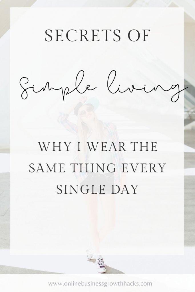 Secrets of simple living